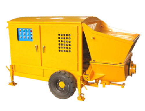 Wet mix shotcrete pump