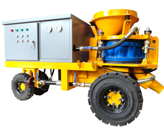 wet mix concrete spraying machine