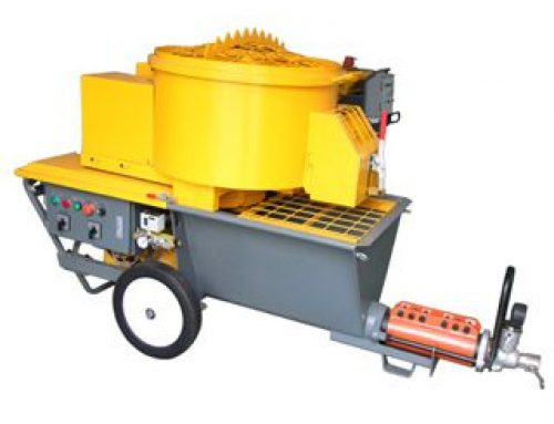 Mortar plaster machine with mixing