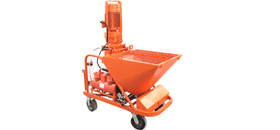 Dry mix plastering machine
