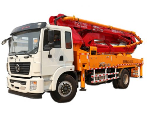 Concrete cement boom pump truck
