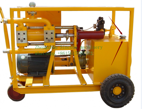 Grouting cement mixer pump method
