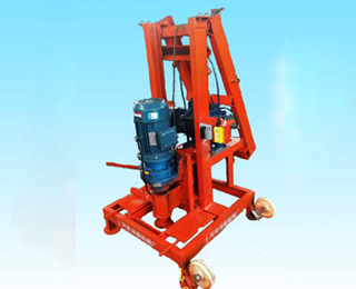 foldable well drilling machine