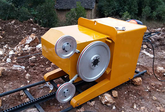 quarry rock wire sawing machine