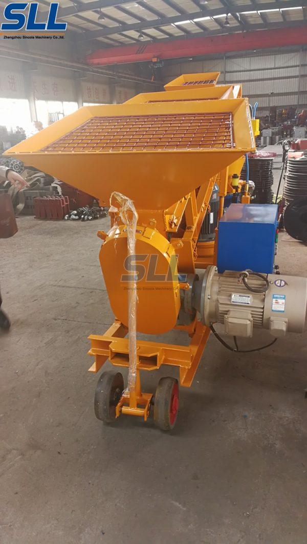 self loading shotcrete machine