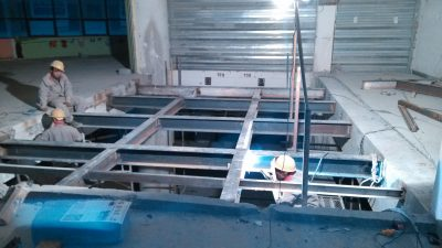 Steel structure interlayer reinforcement